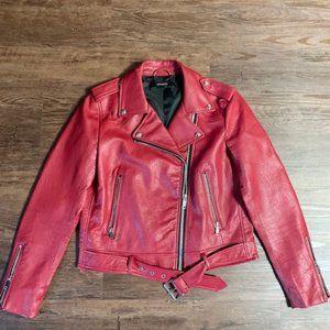 Zara Moto Faux Leather Jacket